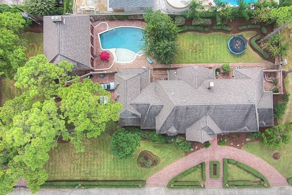 Ariel view of the Century House