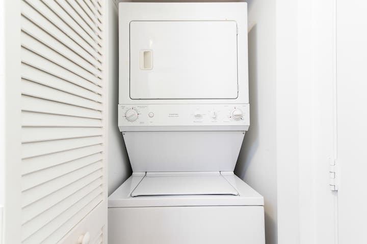 Washer And Dryer Set Inside The Apartment