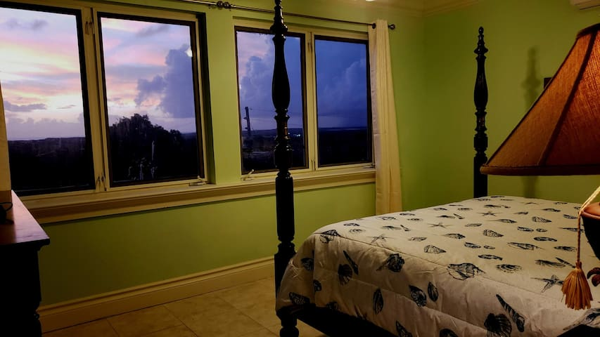 Master Bedroom Sunset!  Views of the Southside Ocean