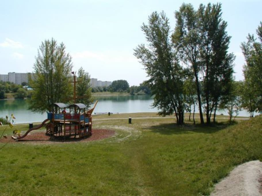 Sightseeing and Swimming area,from the apartment 3 minutes walking