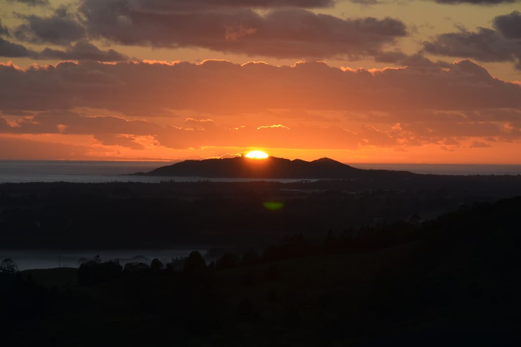 A sensational sunrise over Byron Bay, the most eastern point of Australia.