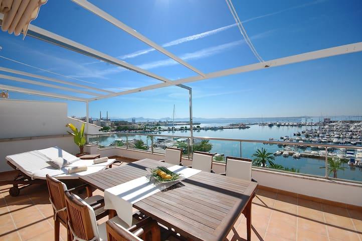 LUXURY APARTMENT WITH BEST VIEW BAY - Alcúdia - Apartamento