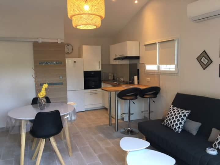 Appartement de 38 m2 attenant une villa