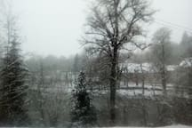 Vue quand il a neigé