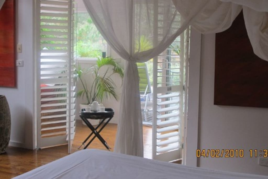View from Bed to DayBed Room