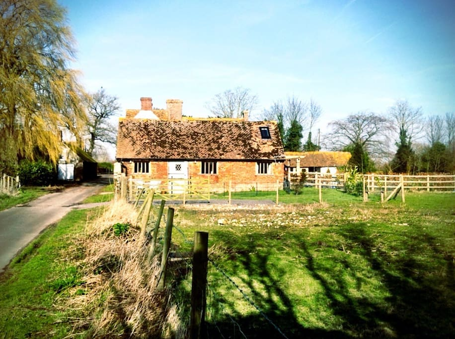 View of the cottage from the lane