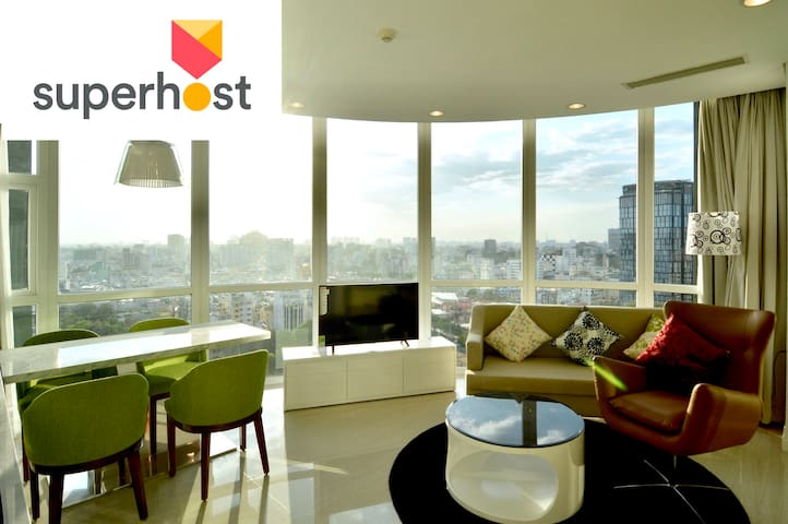 SUPERHOST, BEN THANH, Breathtaking SUNSET VIEW17.2 - Nguyễn Thái Bình - Apartment