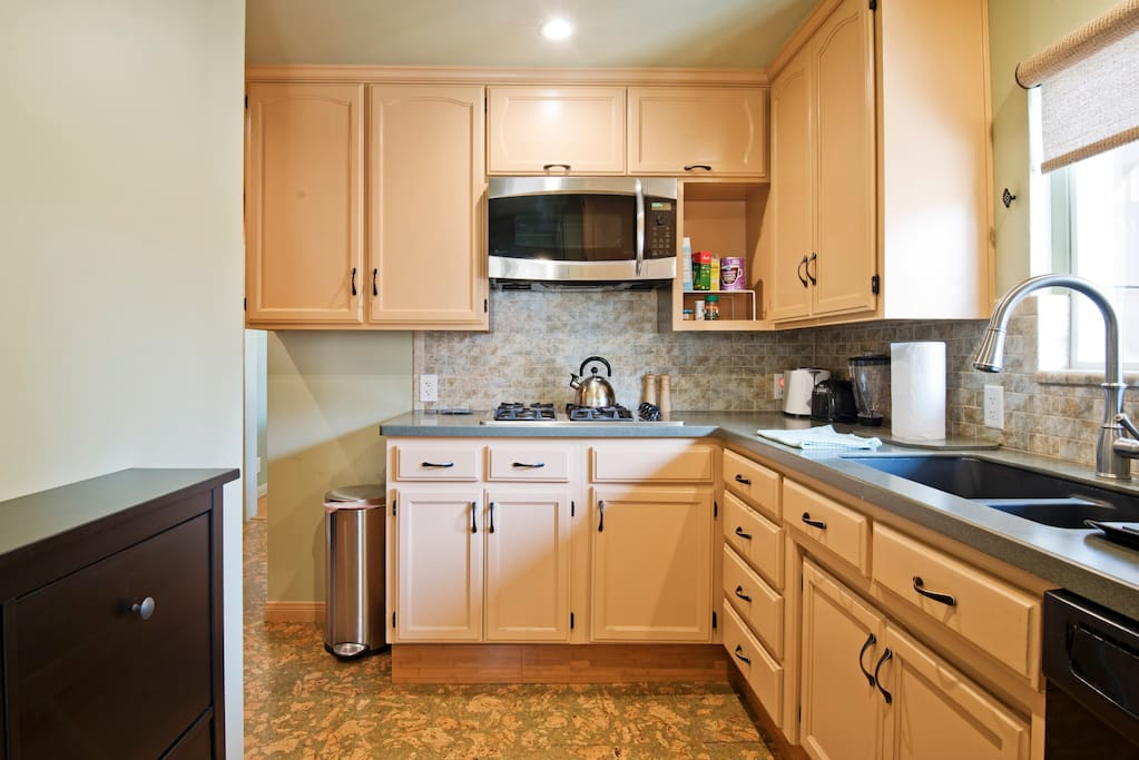 The kitchen is brand new with eco friendly countertop and cork floor.