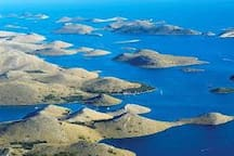 Kornati National Park,, daily trips from Jezera