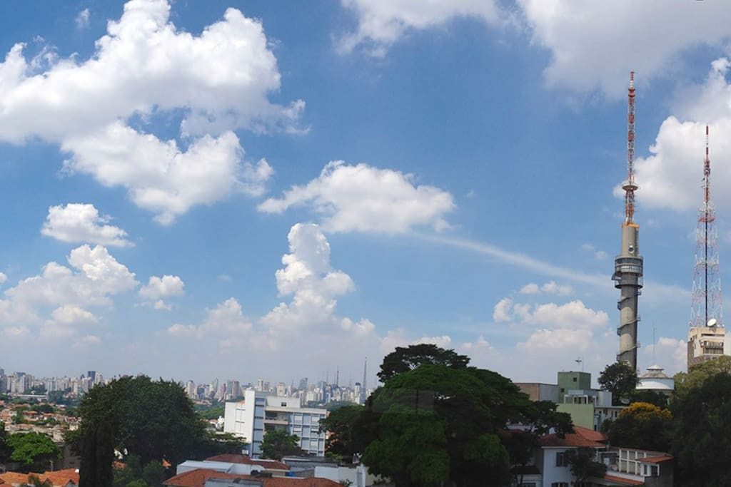 This is what you see from the living room window on a clear day; at the center and left, Paulista Ave and downtown area with landmark buildings