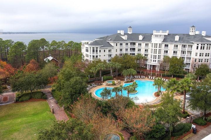 Grand Sandestin condo with Bay views!