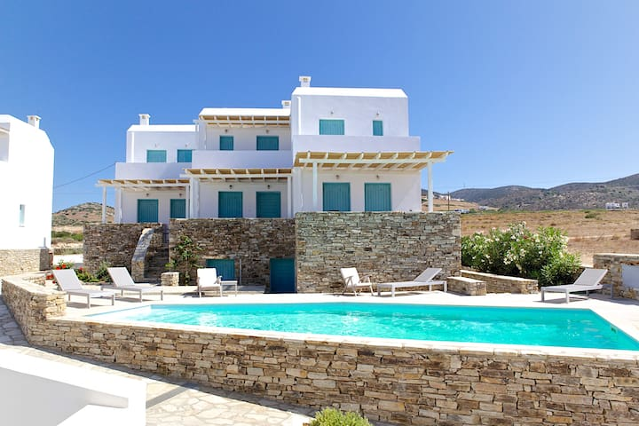 3 bedroom maisonette with pool. (b) - Antiparos - Byt