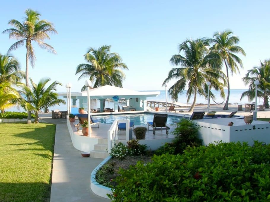 The view from the porch of your Belize condo!