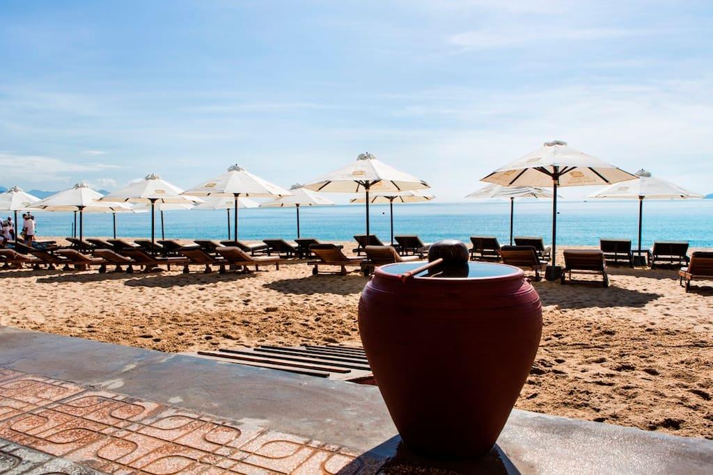 Plaże wlasne Przed hotelem