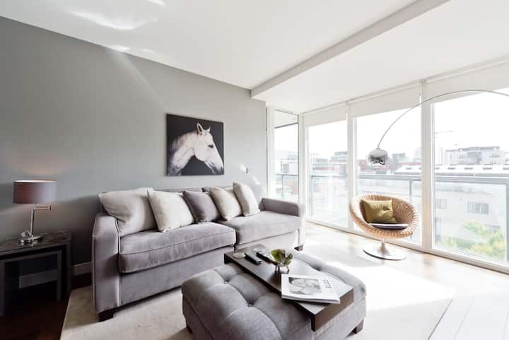 Stunning Views Chic 1BR Grand Canal Docks