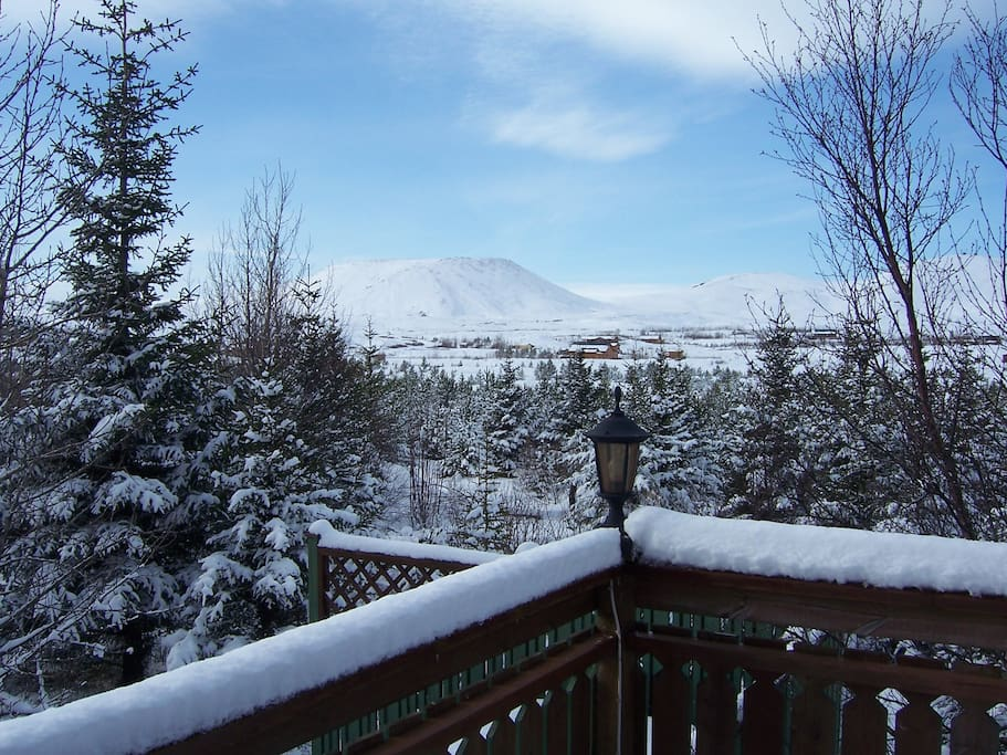 A view from the veranda during wintertime.