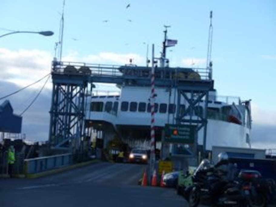 Washington State Ferrys.  Fauntleroy in Seattle,  Point Defiance in Tacoma