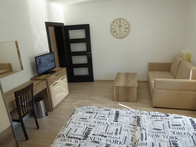 GUT1 modern apartm. 55m2 for 2&families washing m.