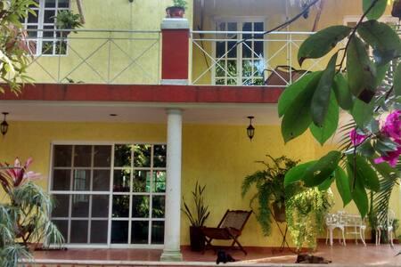 Lush garden villa near Valladolid