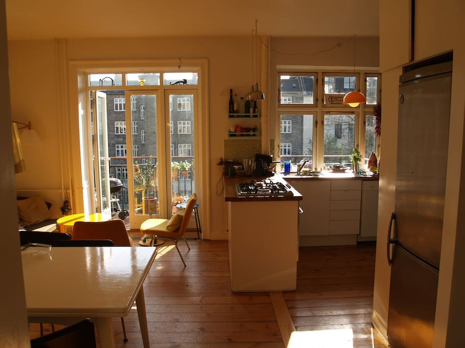 Enjoy our open and sunny kitchen