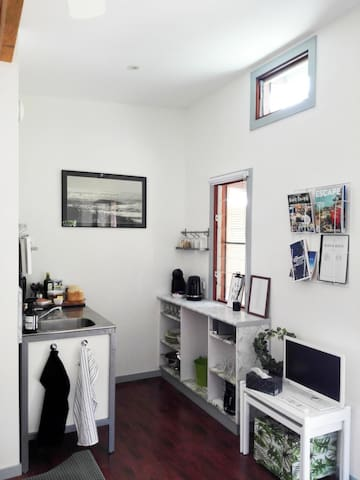 Kitchenette inside