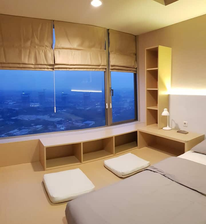 Minimalist Japandinavian Apartment in Cikarang