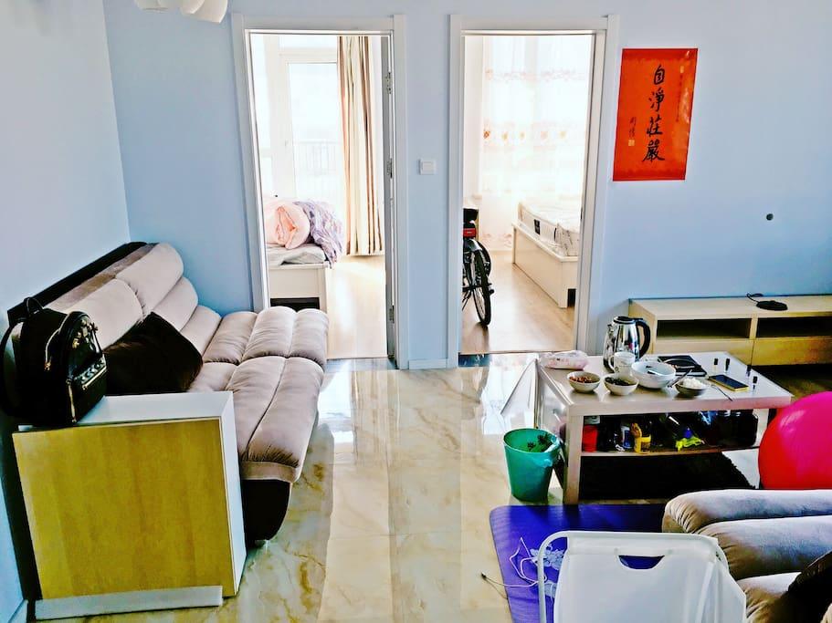 双人沙发,双人床,卧室,鞋柜