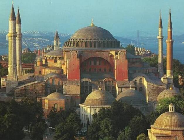5 minutes walk to Hagia Sophia