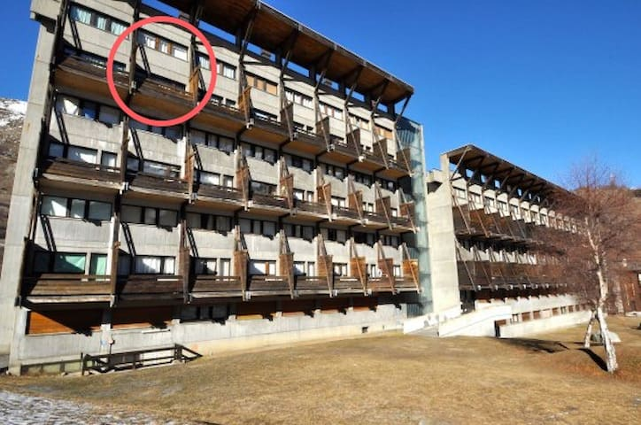 Flat w/view+balcony & pool - 400m from ski-lifts!