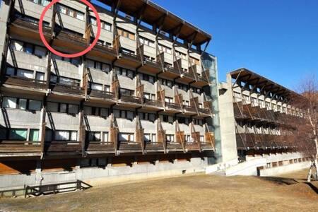 Flat w/view+balcony & pool - 400m from ski-lifts!