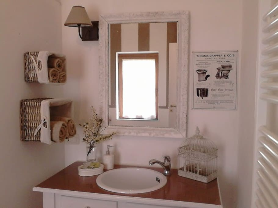 Newly restyled bathroom.