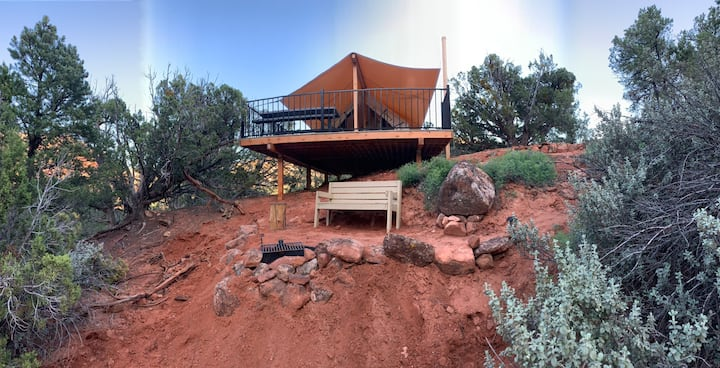 Water Canyon Cliffside Tent 2