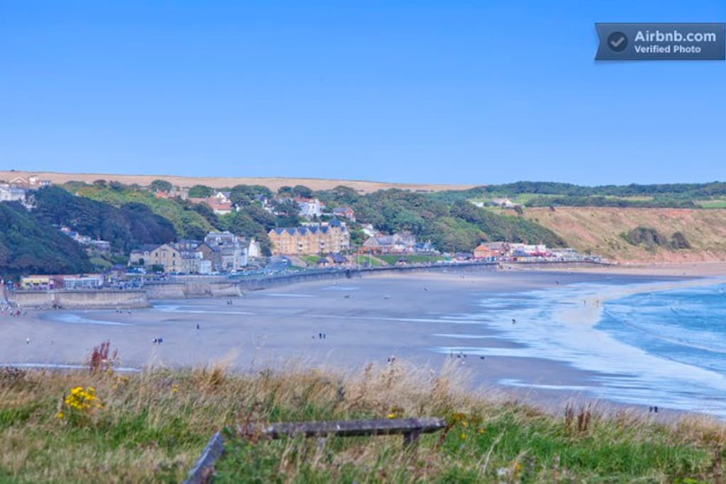 Looking across to Filey Bay