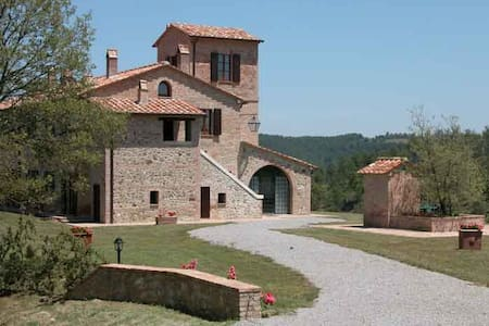 Villa Chieteno with pool/Apartments - Cetona - Apartamento