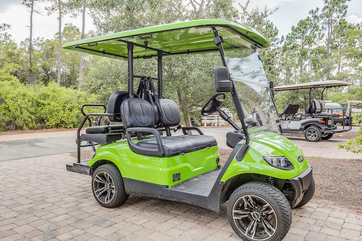 4-Seater Golf Cart and 4 Bikes! Across Street from the Pool! - Shore Beats Work at NatureWalk 30A