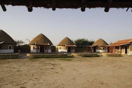 Traditional Bhunga Mud Huts