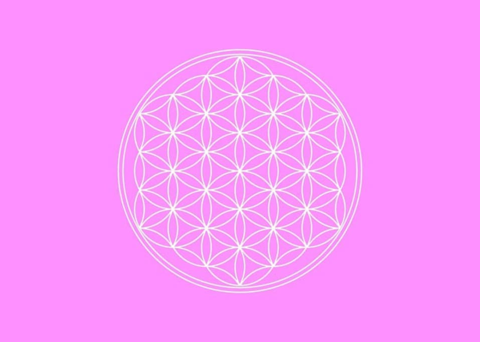 Flower of Life in Bright Room