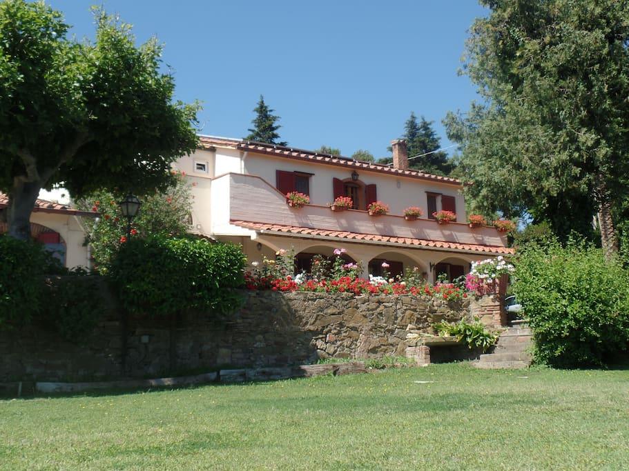 Villa from lower terrace