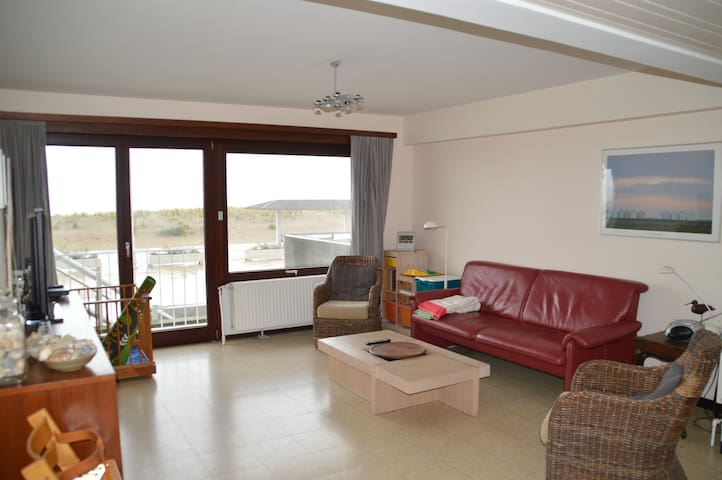 Big appartement at the dike, sea view + parking!
