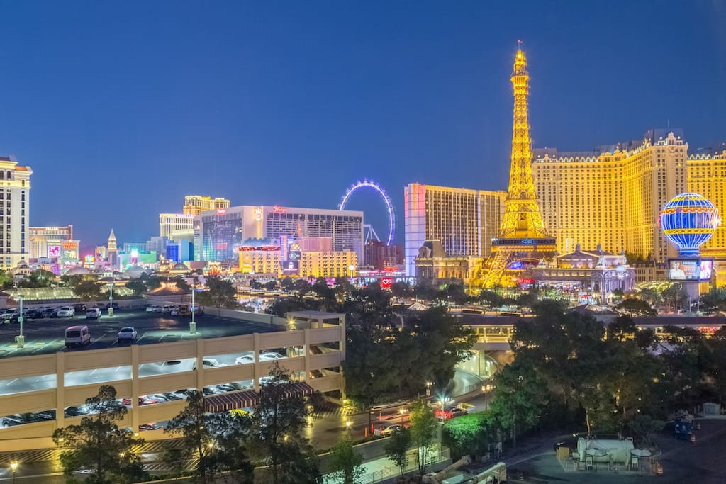 Amazing view of the strip.