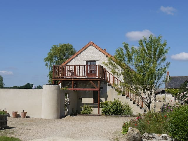 Loire Valley 3* gite, heated pool - Parçay-les-Pins - Appartement