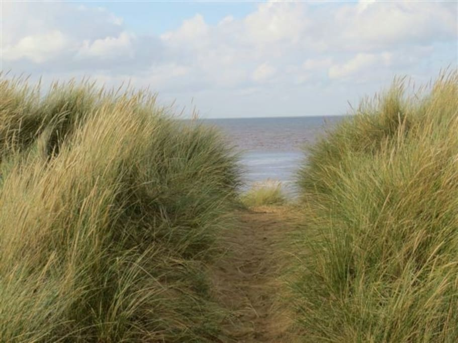 Just a few yards to the quiet sandy beach