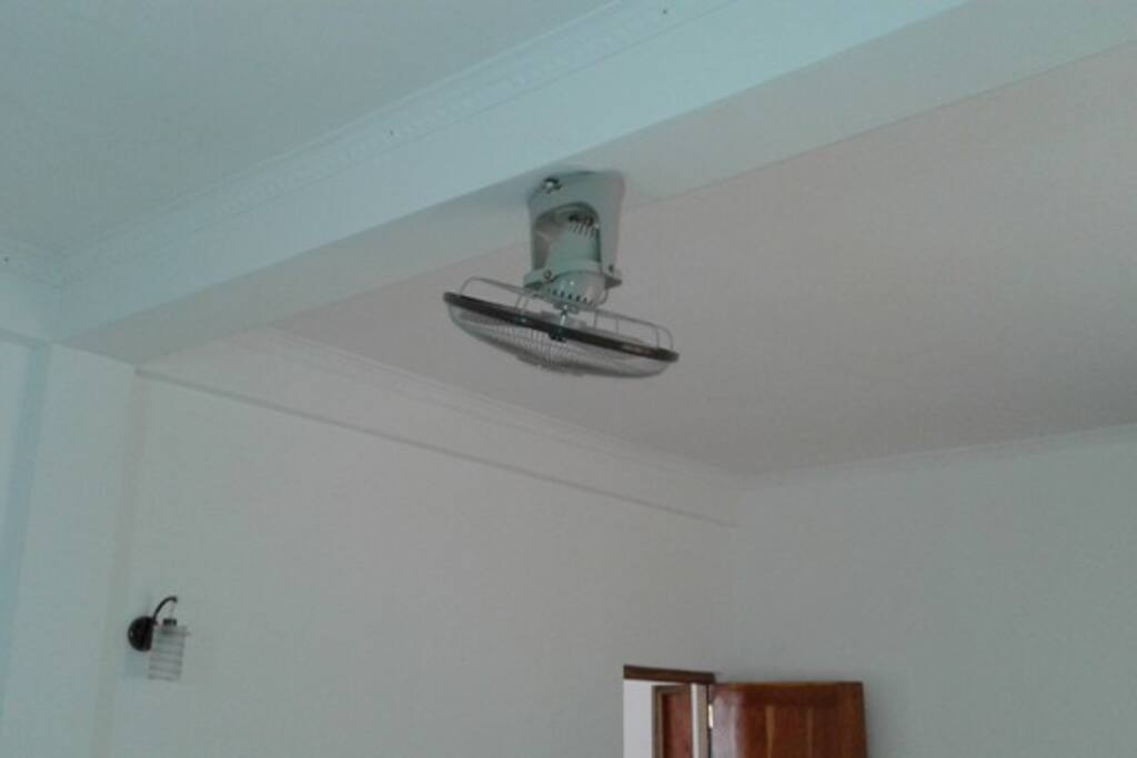 fan attached to the ceiling