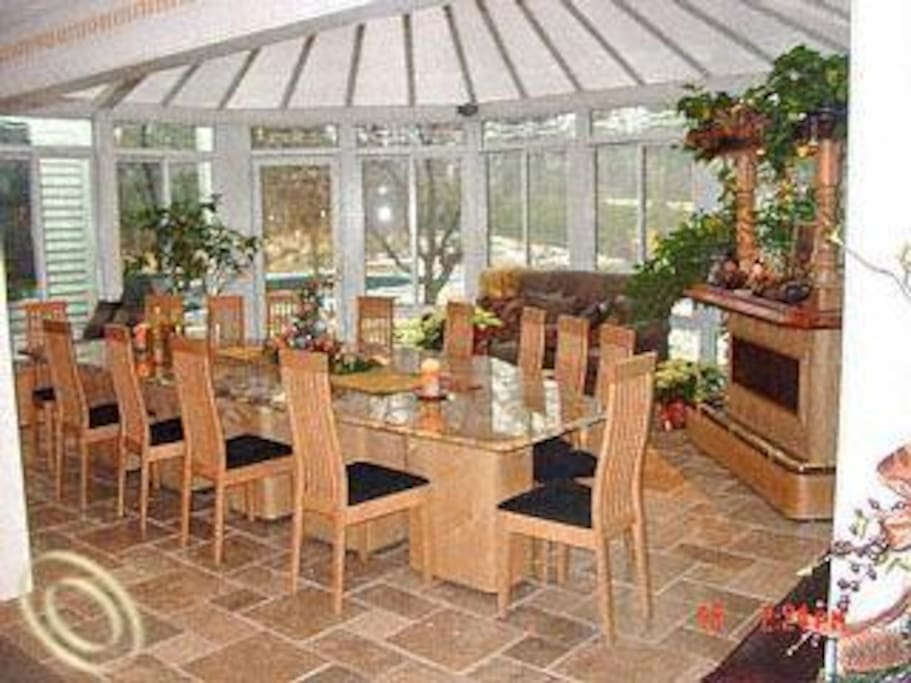 The sun room is common area