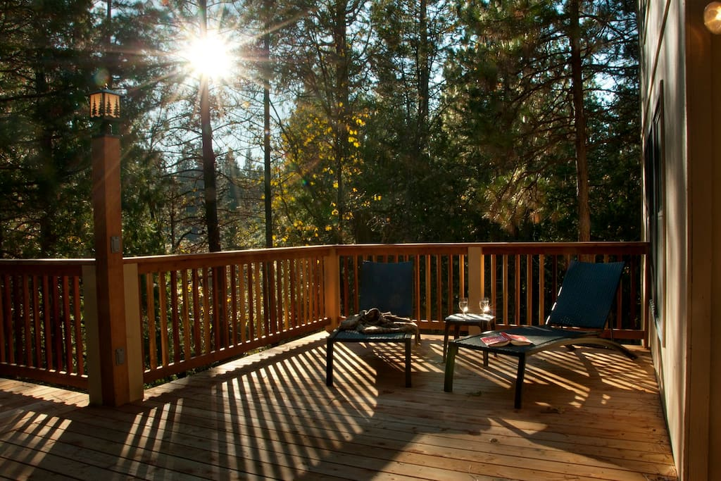 Deck, overlooking Chilnualna Falls Creek