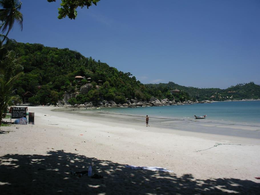 Hervorragend zum Baden geeigneter Strand