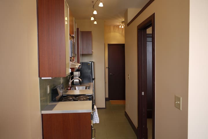 Kitchen and access to your very own washer and dryer