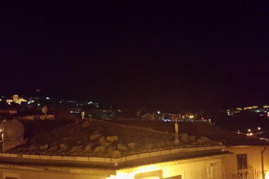 Vista della città dal balcone