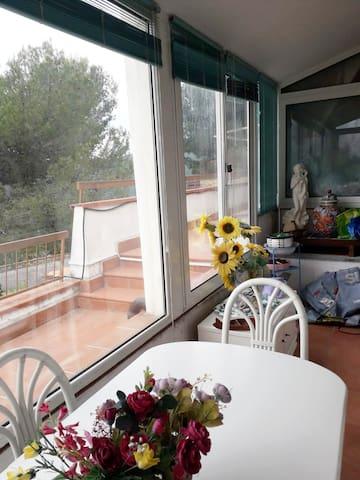 veranda con vista panoramica