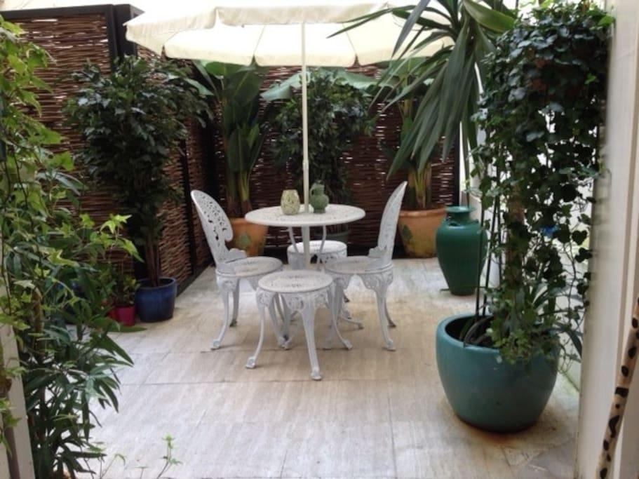 La terrasse privative...
